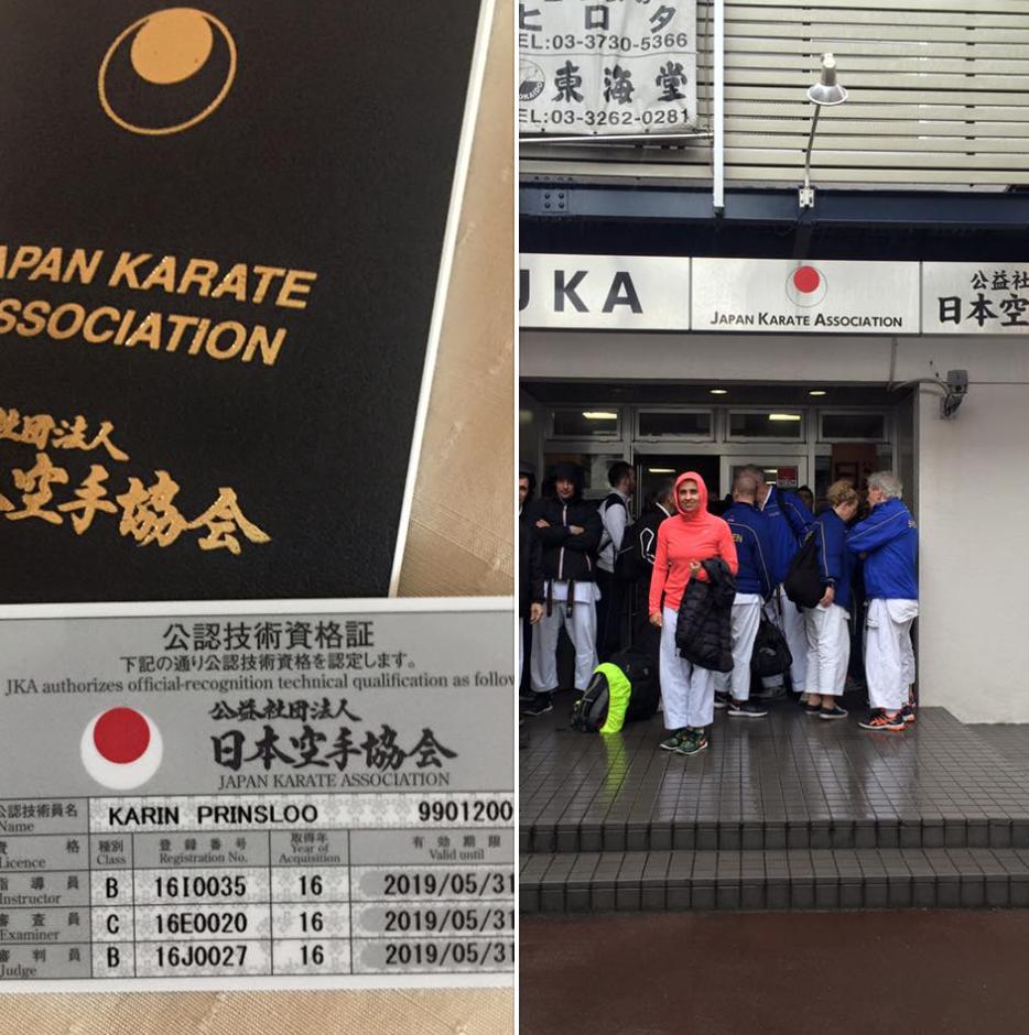 Karin Prinsloo JKA Japan 4 South Afica