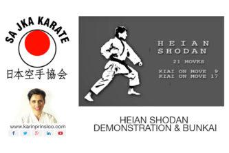 Heian Shodan Karin Prinsloo Westville Durban Karate