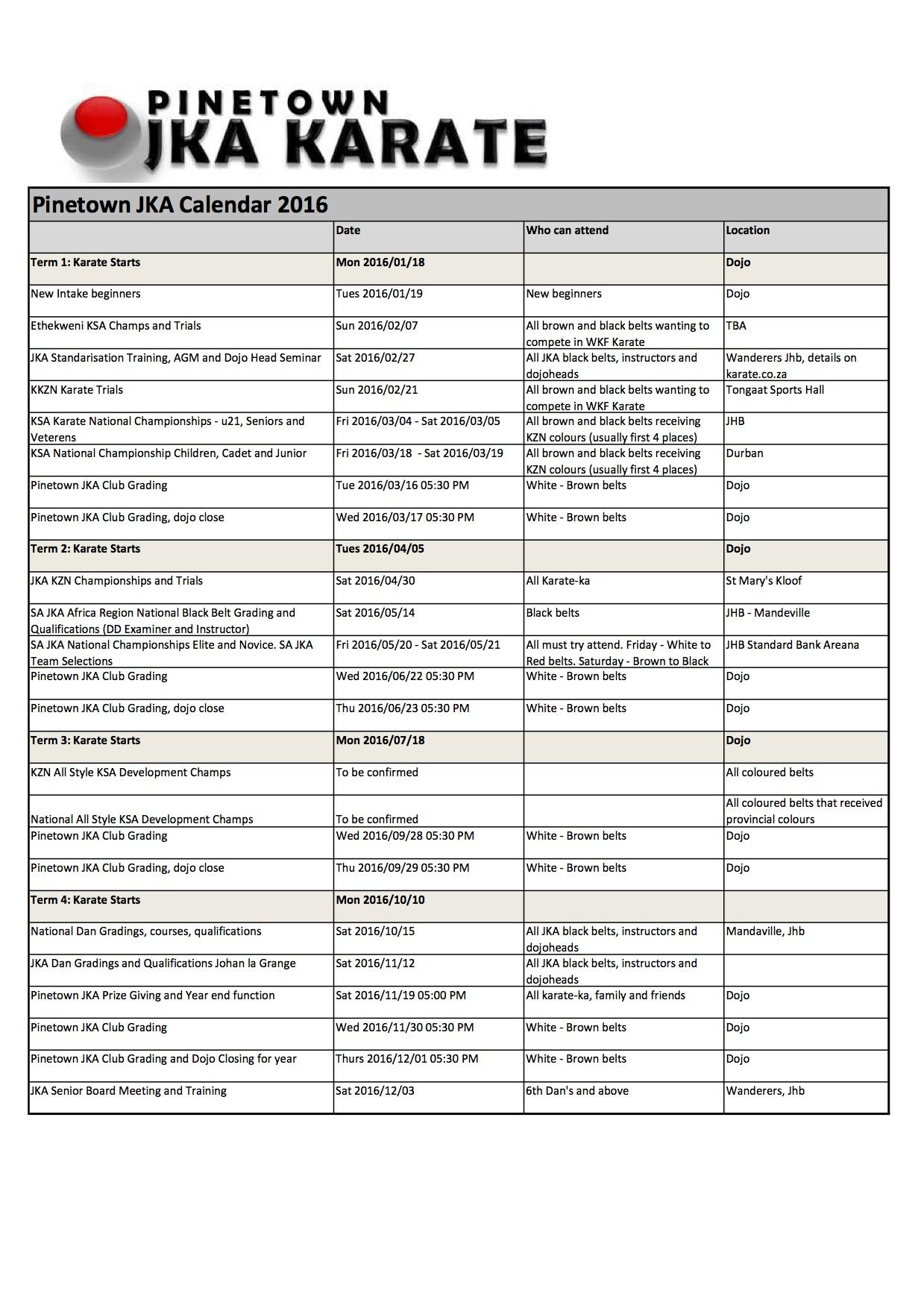 2016-pinetown-jka-karate-calendar-karin-prinsloo